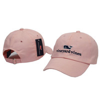 Whale Embroidered Pink Strapback Golf Casquette Southern Tide Fish Dad Baseball Cap Men Summer Hat Baseball Women Dolphin Cap