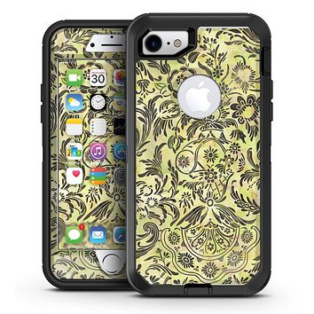 Woodland Green Damask Watercolor Pattern - iPhone 7 or 7 Plus OtterBox Defender Case Skin Decal Kit