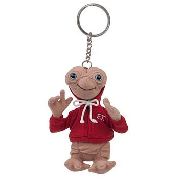 """Universal Studios Extra Terrestrial E.T. Red Hoodie 6"""" Plush Keychain New w Tags"""