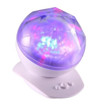 8 Modes Color Diamond Aurora Projector USB Powered Music Player LED Night Light