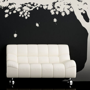 Vinyl Wall Decal Sticker Falling Leaves under Tree #MCrespo117