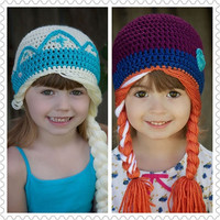 Baby 2015 winter Frozen child children handmade hat princess wool cap LN-201-TO = 1946706116
