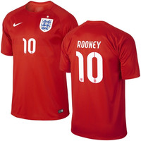 Rooney #10 England Nike 2014 World Soccer Replica Road Jersey - Red - http://www.shareasale.com/m-pr.cfm?merchantID=7124&userID=1042934&productID=541930306 / England