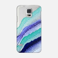 FLAWLESS WAVES AQUA & BLUE by Monika Strigel Galaxy S5 case by Monika Strigel | Casetify