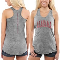 Alabama Crimson Tide Womens Breaking Hearts Tri-Blend Racerback Tank Top – Gray
