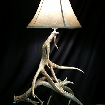 "30% OFF INDEPENDENCE SALE through 7/12!!! The ""Grandpa Bear"" Mule Deer Antler Lamp"