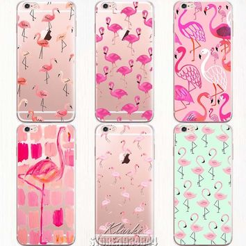 Soft Colorful Flamingo Case Cover For iPhone 6 6S