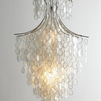 Dripping Capiz Chandelier