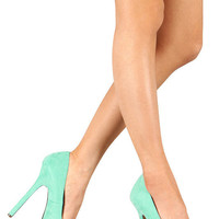 Mint Green Seafoam Women's High Heel Shoes Pumps Stilettos (Small/Indie Brands)