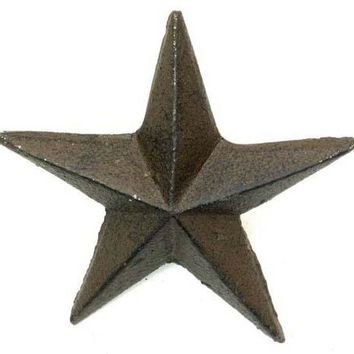 Cast Iron Nail Star Large -Set Of 12