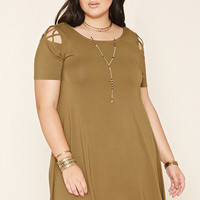 Plus Size Crisscross Dress