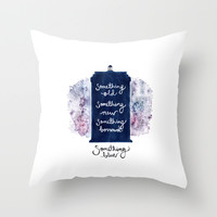 tardis - doctor who Throw Pillow by Hille