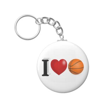 I Love Basketball 3D Key Chains