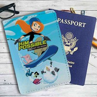 Kim Possible Snow Leather Passport Wallet Case Cover
