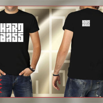 HARD BASS Music Fans T-shirt COLOR: DEEP BLACK Size S-XXL HB600