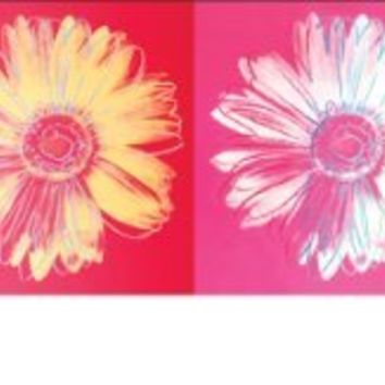 Andy Warhol Daisies Pop Art Poster Print 12x36