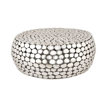 Pebble Accent Table Nickel