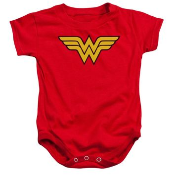 Wonder Woman Logo Infant Snapsuit Officially Licensed Baby Clothing