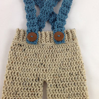 Crochet Baby Shorts - Baby Shorts with Suspenders - Newborn Photo Prop - Newborn Boy Shorts - Newborn Girl Shorts - Baby Shower Gift