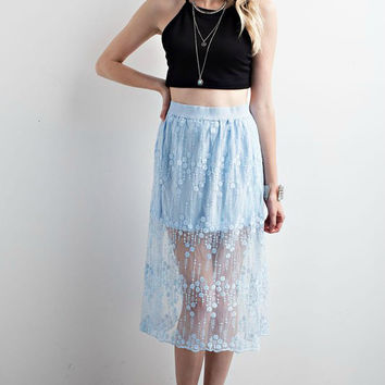 Scarlette Sky Blue Skirt