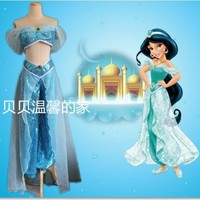 2015halloween costume for women Aladdin and the Magic Lamp Princess Jasmine cosplay costume Princess Jasmine costume adults