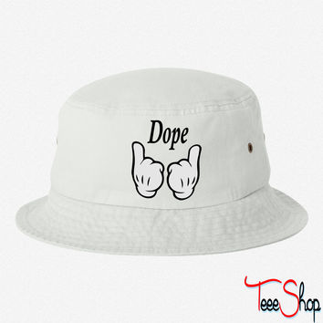 Mickey Mouse Hands Dope bucket hat
