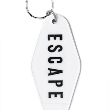 ESCAPE Keychain - White
