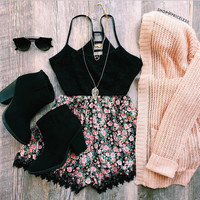 Moonjava Lace Bralette - Black