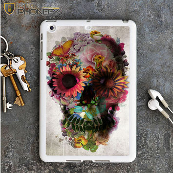 Flower Sugar Skull Pink Day Of The Dead iPad Mini Case iPhonefy