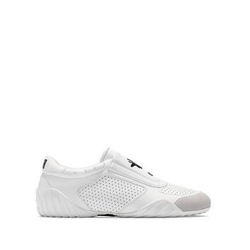 Dior Women's White D-Fence Leather Suede Sneakers