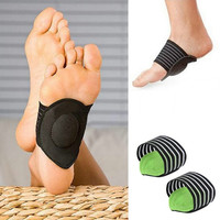 Health Feet Protect Care Pain Arch Support Cushion Footpad Run Up Pad Foot (Color: Black) = 5617791297