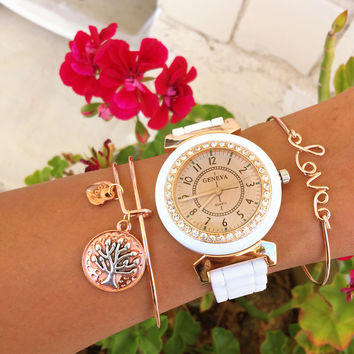 Love & Tree Bracelet and Watch Set