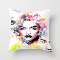The Three Madonna's Throw Pillow by Brian Raggatt