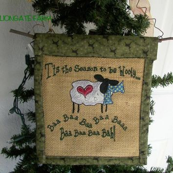 Sheep Wall Hanging Tis theSeason to be Wooly