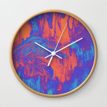 acidwash Wall Clock by DuckyB