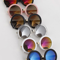 Iconic Girl Round Reflective Sunglasses
