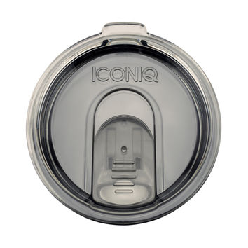 20 oz Iconiq Retractable Tumbler Lid - Smoke Grey - Compatible with most 20 oz Stainless Steel Insulated Tumblers