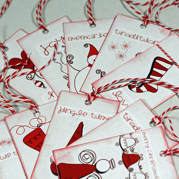 Handmade Christmas Tags - Set of 10 Upscale Christmas Tags - Perfect Final Touch to Beautiful Christmas Gifts