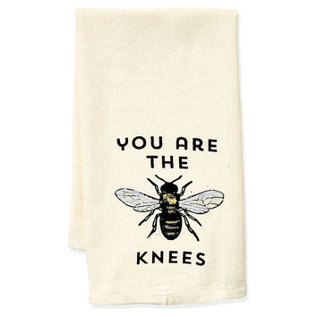 """Bee's Knees"" Tea Towel, Black, Tea towels & Dishtowels"