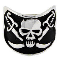 Sterling Silver Pirates of the Fire Lake Skull Ring