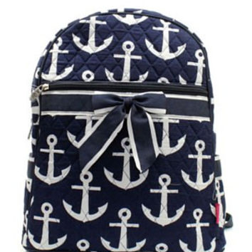Anchor Quilted Backpack
