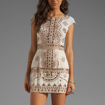 renzo + kai Lola-Lola Dress in Ivory/Rosegold from REVOLVEclothing.com
