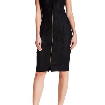 T Tahari | Primavera Faux Suede Zip Dress | Nordstrom Rack