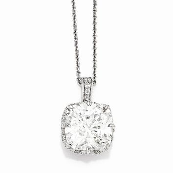 "Sterling Silver CZ 18"" Necklace"