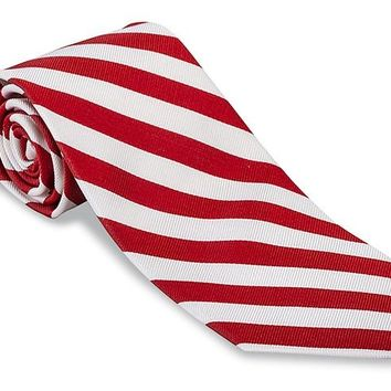 Red/ White Bar Stripes Necktie - F658
