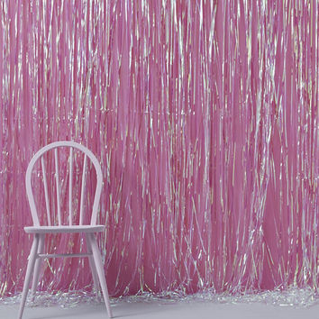 Iridescent Foil Fringe Curtain Decoration, Photo Booth Backdrop, Birthday Photo Backdrop, Wedding Photo backdrop