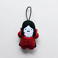 Halloween Vampire decoration, cute felt Halloween ornament, vampire plush doll, wall hanging and plush felt tag