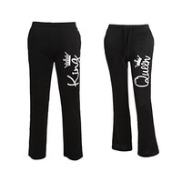 Couple Matching Casual King Queen Printed Elastic Waist Pants