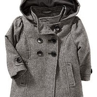 Tweed Hooded Peacoats for Baby