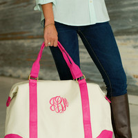 Monogrammed Canvas Travel Bag
